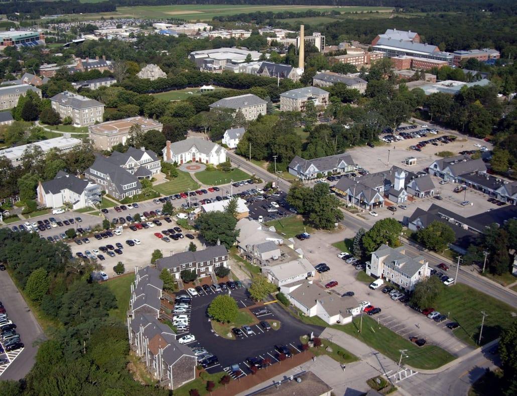 uri campus aerial shot